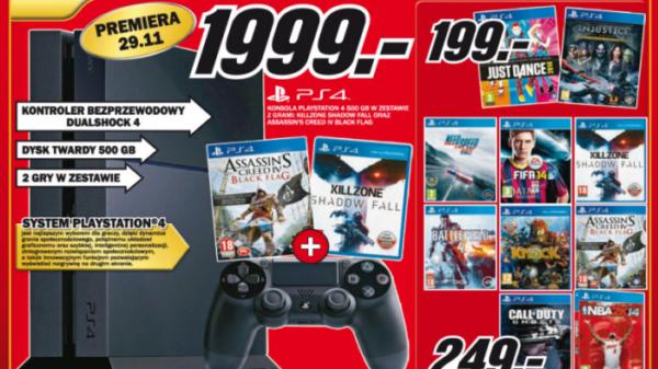 MediaMarkt ceny konsoli PlayStation 41