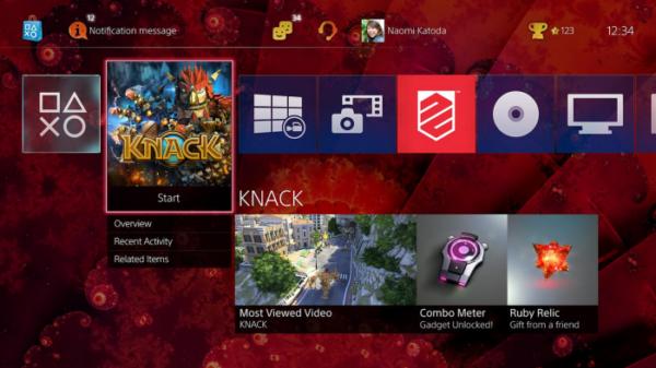 PlayStation 4 aktualizacja