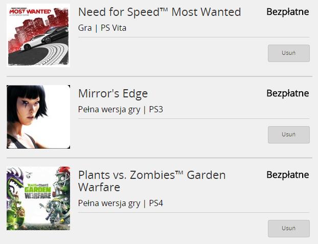 Darmowe gry PlayStation Store