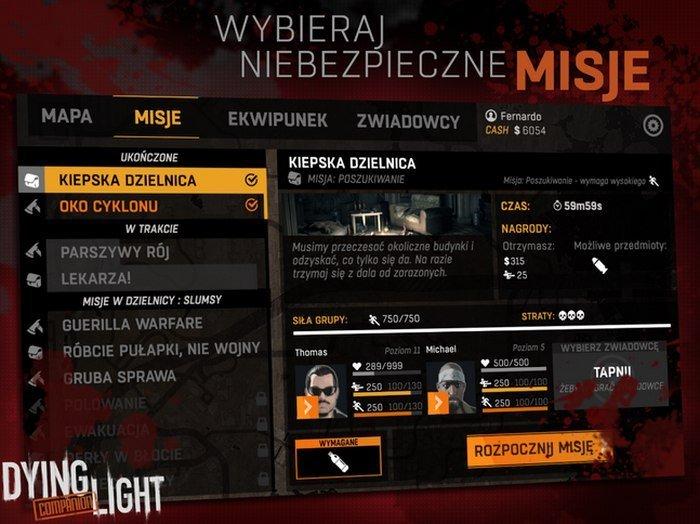 Dying Light aplikacja