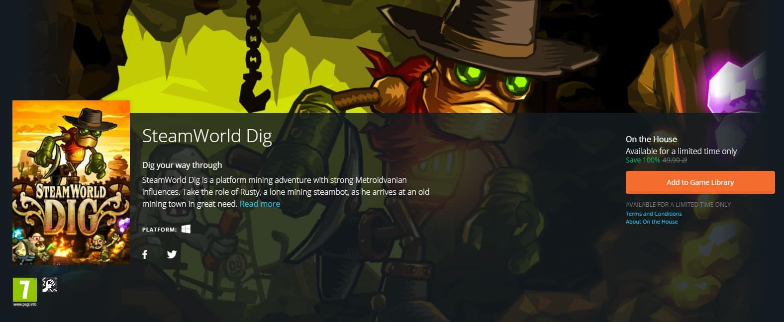 Steamworld Dig Za Darmo