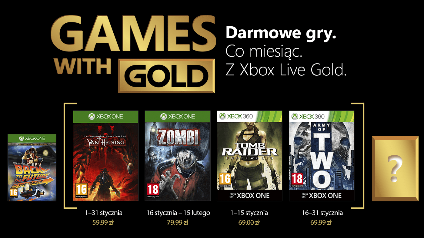 Games With Gold Styczen 2018