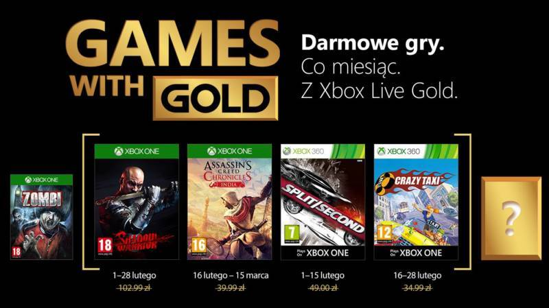 Games With Gold Luty 2018