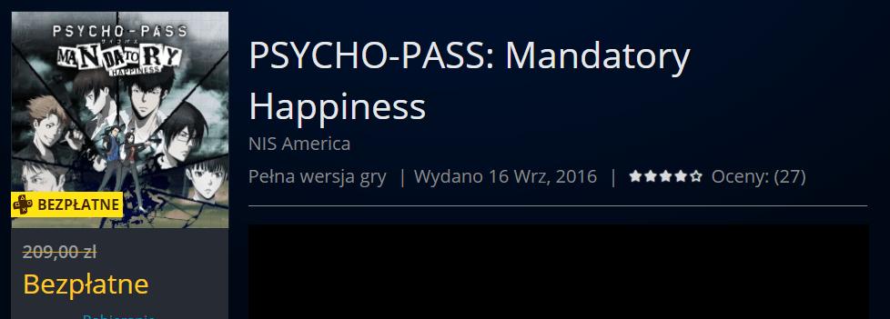 Psycho Pass Mandatory Happiness Za Darmo