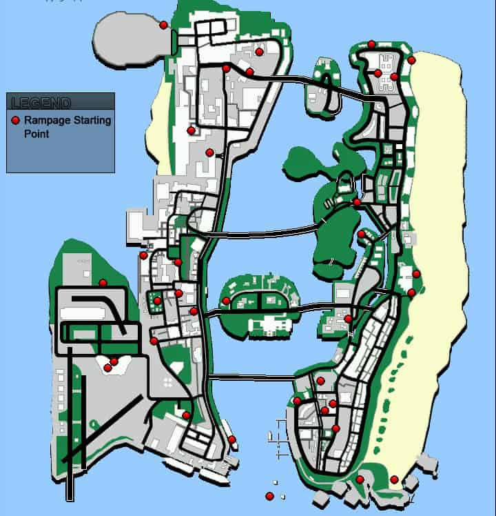 12. Gta Vice City Map