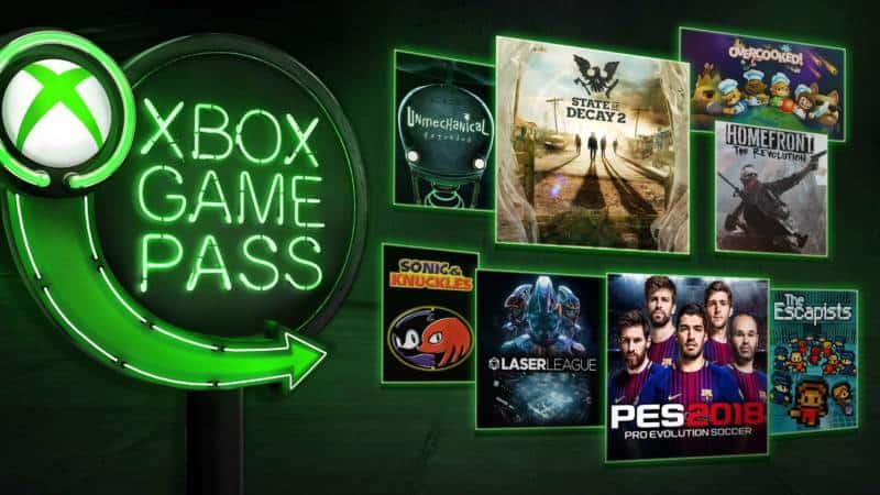Xbox Game Pass Maj 2018