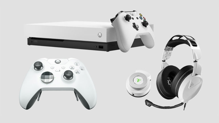 White Elite Bundle Xbox One X 768x431