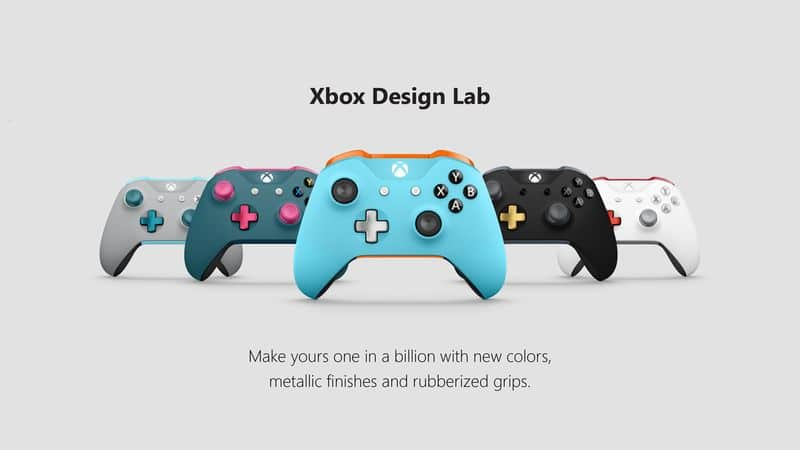 Xbox Design Lab 5 Controllers