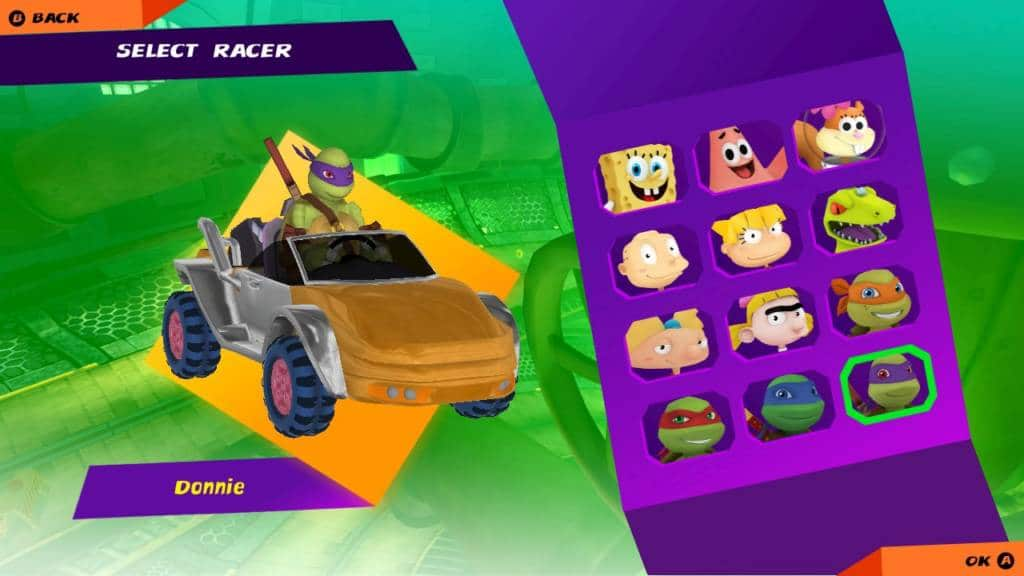 Nickelodeon Kart Racers Screen