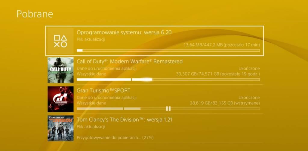 Pobieranie Aktualizacji 6.20