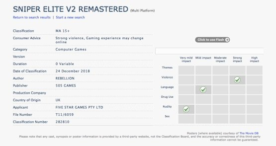 Sniper Elite V2 Remastered Listing
