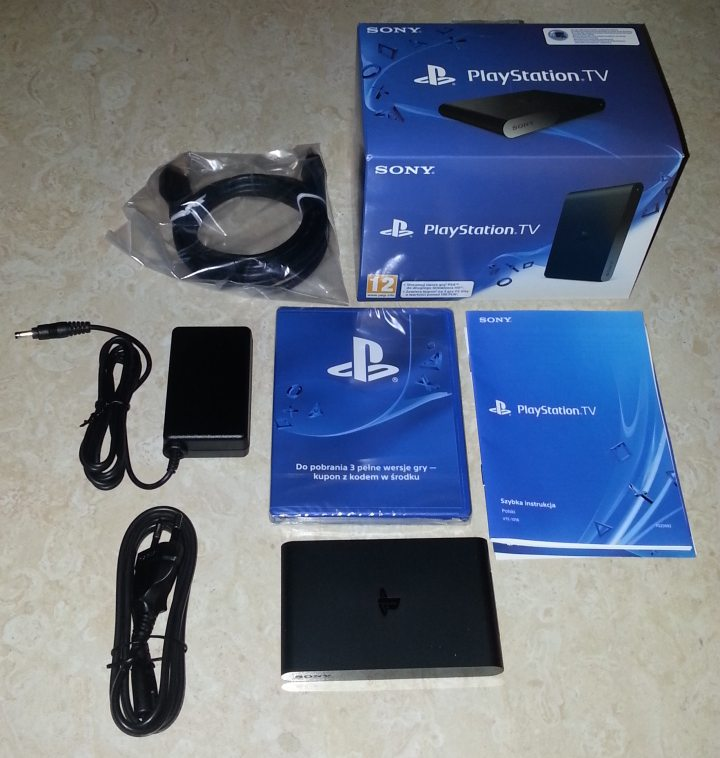 Zawartosc opakowania Playstation TV