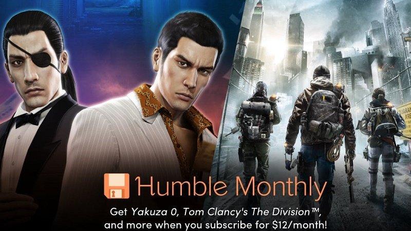Yakuza 0 The Division Humble Monthly Bundle