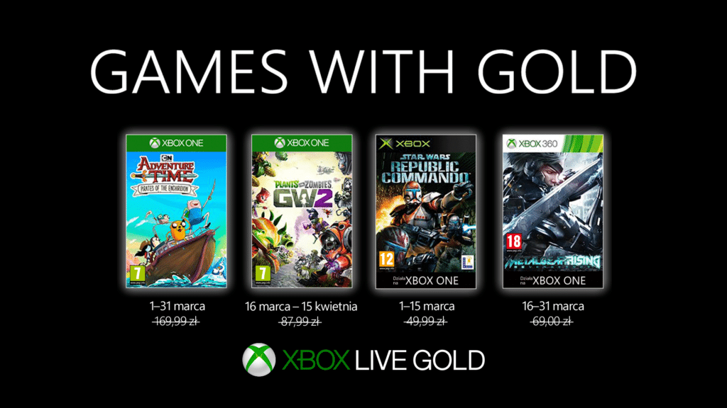 Games With Gold Marzec 2019
