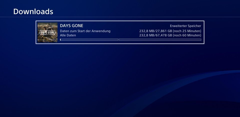 Days Gone Preload
