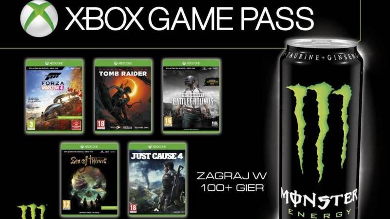 Xbox Game Pass Monster Energy