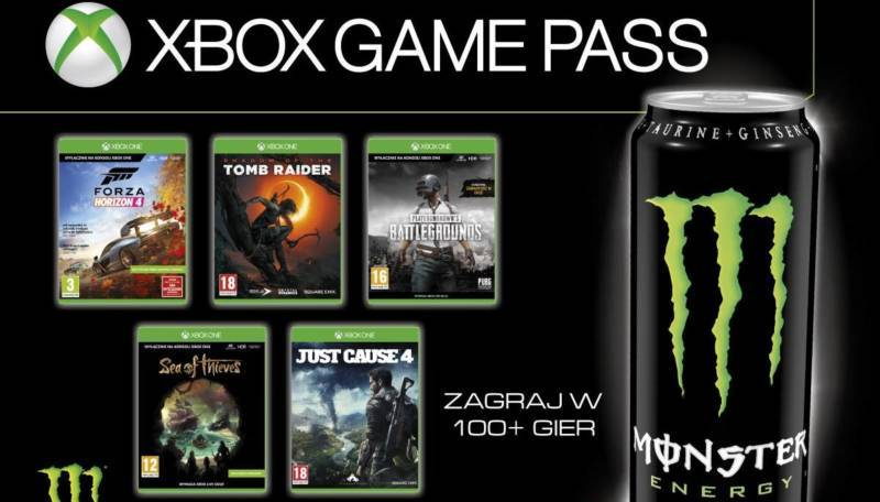 Xbox Game Pass Monster Energy