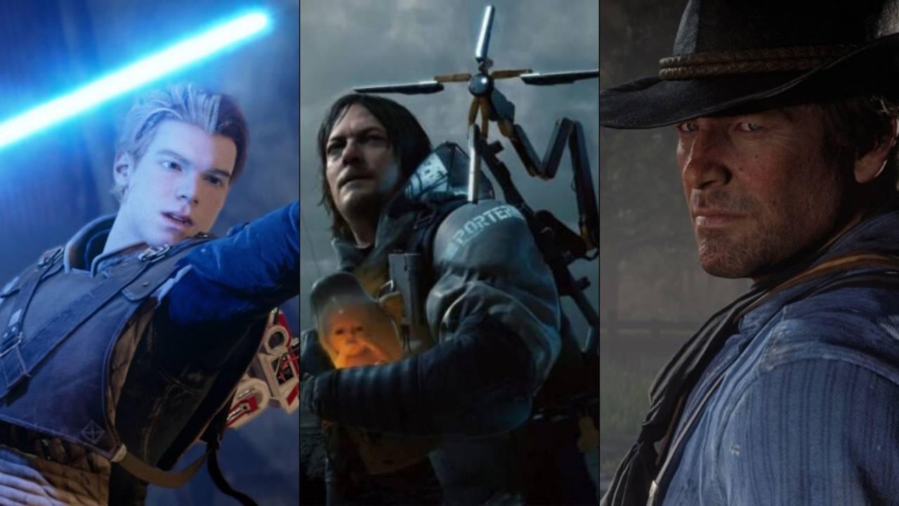 Star Wars Jedi Fallen Order, Death Stranding, Red Dead Redemption 2