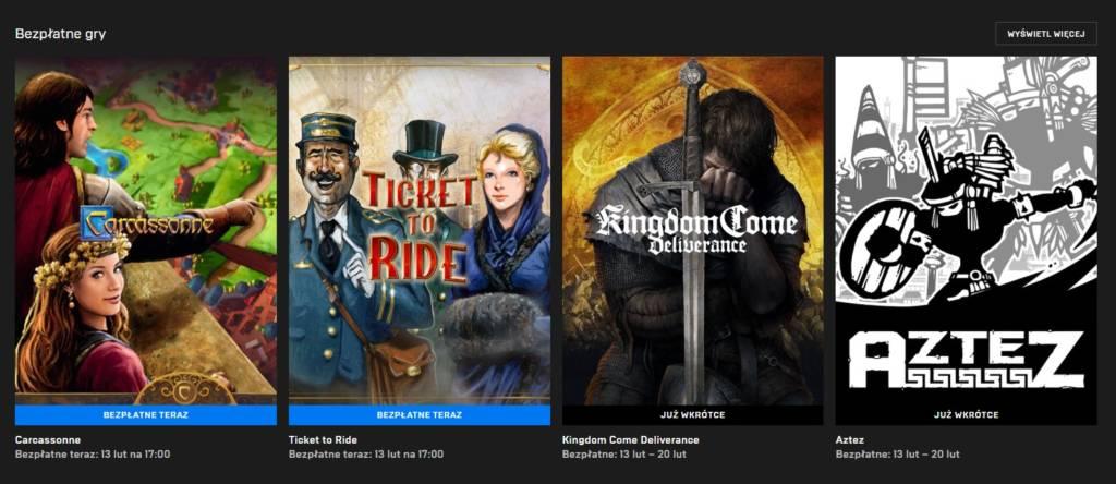 Bezpłatne gry w Epic Games Store