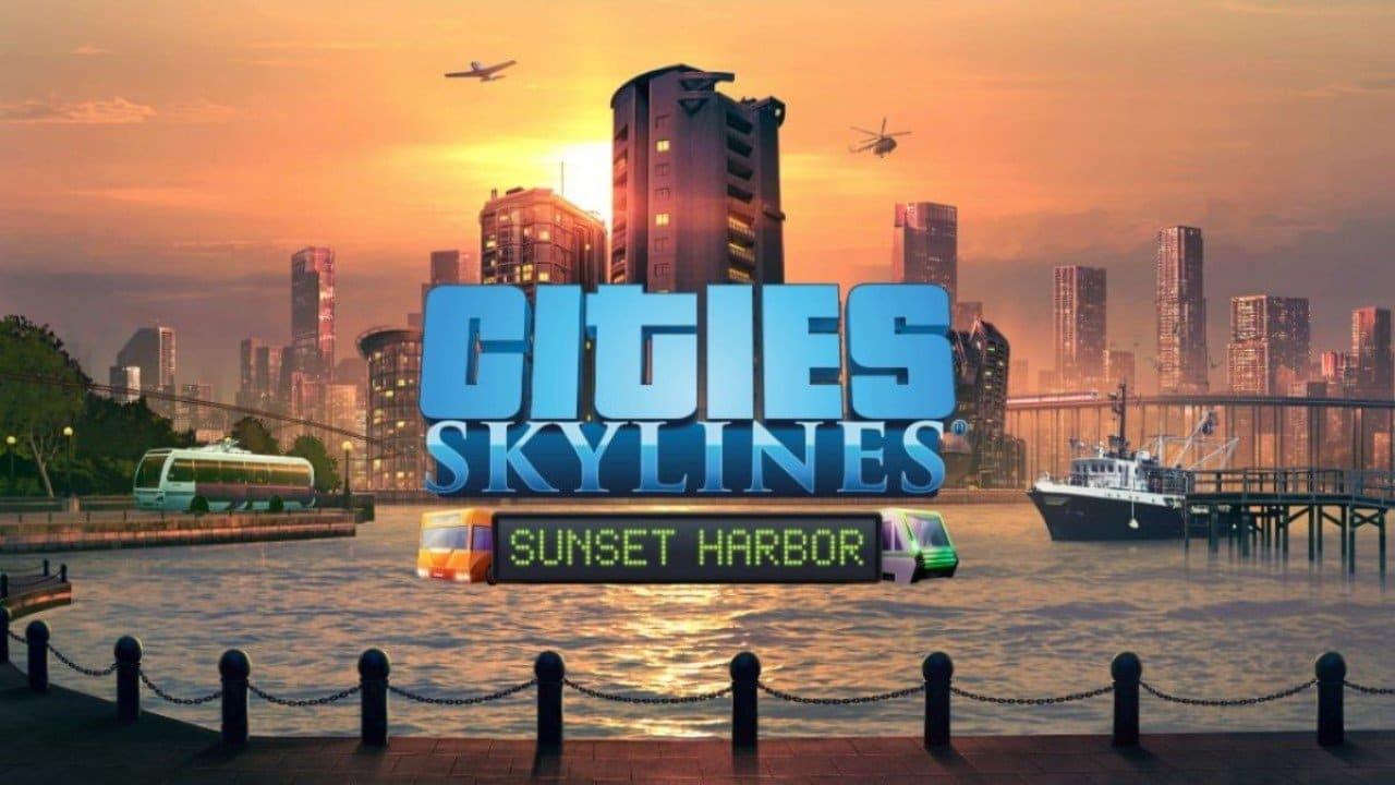 Cities Skylines Sunset Harbor art