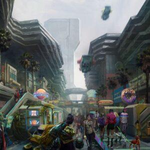 Ulica w Cyberpunk 2077