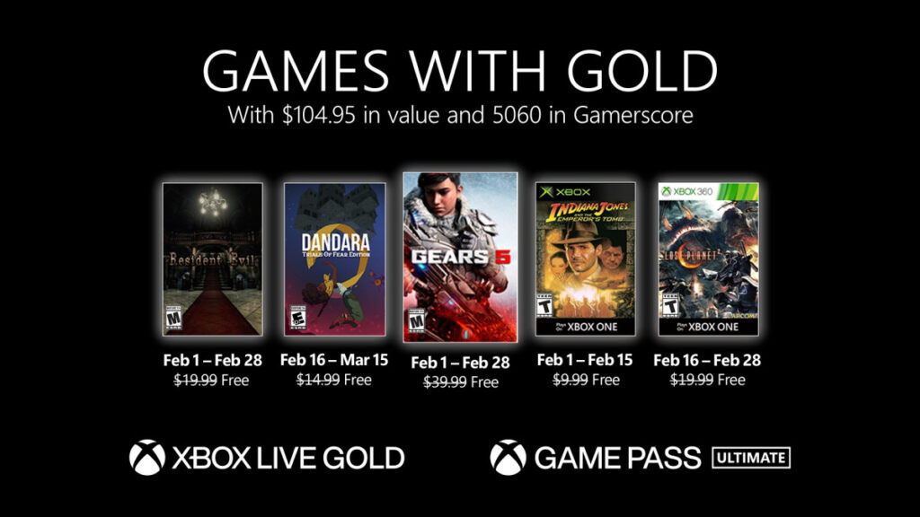 Games With Gold Na Luty 2021