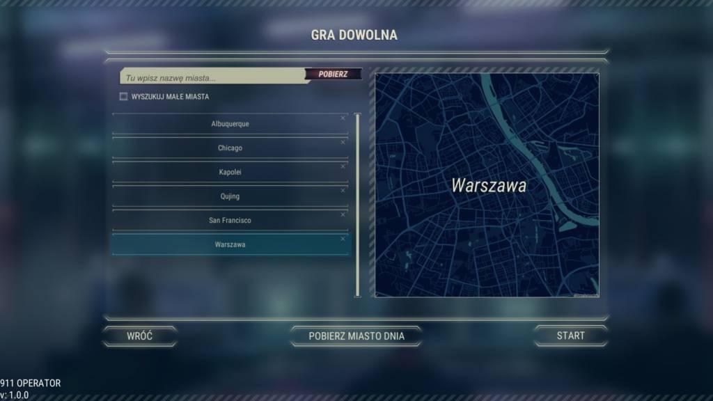 911 Operator mapa warszawy