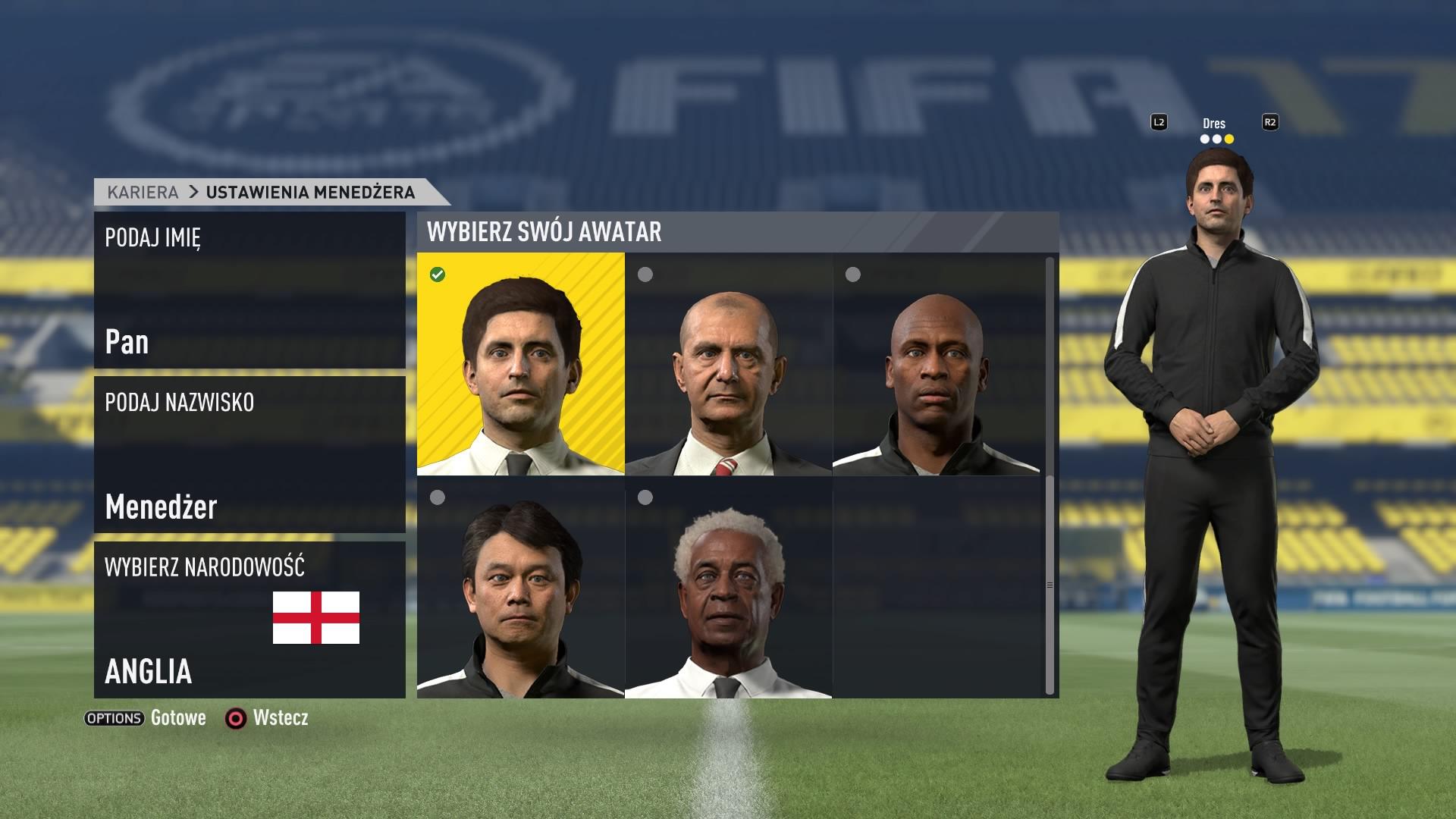 FIFA 17 Kariera (w menu)