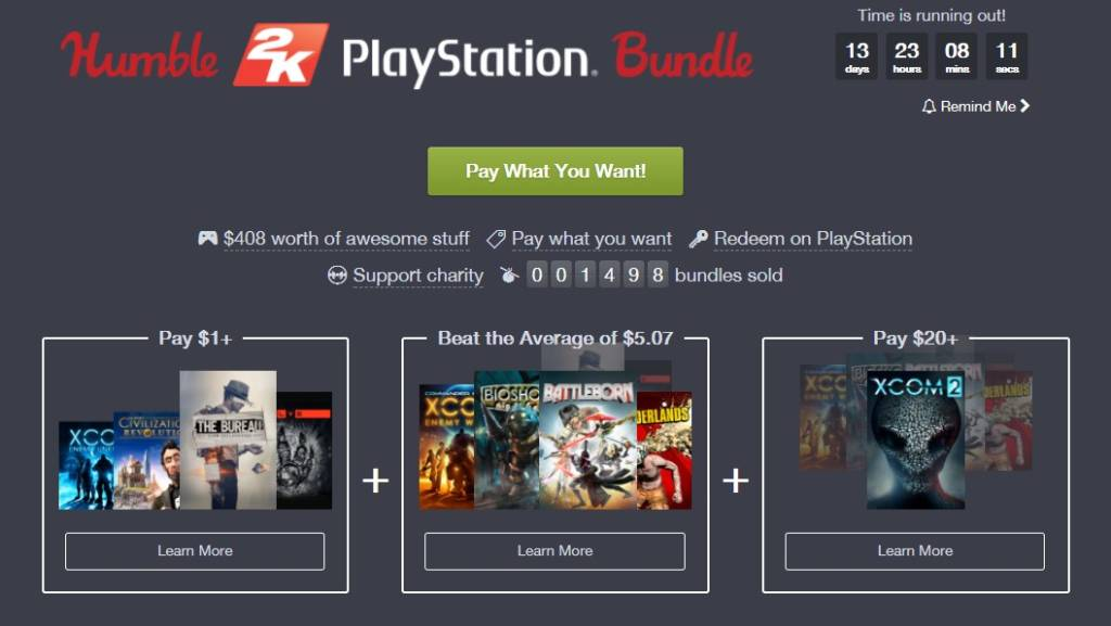 Humble 2k Playstation Bundle