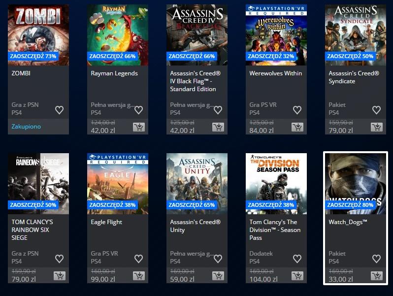 Promocja na gry Ubisoftu w PlayStation Store