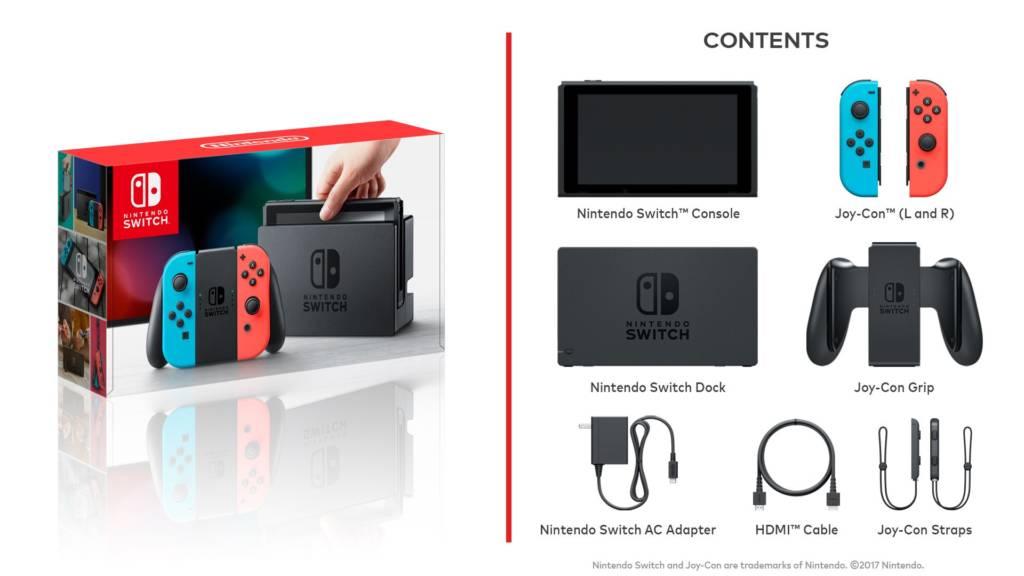 Zawartość opakowania Nintendo Switch