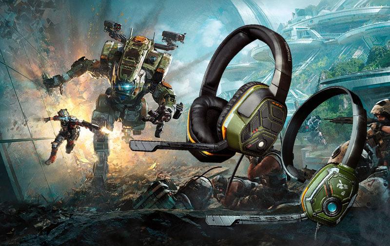 Słuchawki do konsoli Xbox One oraz PlayStation 4 z motywem z gry Titanfall 2